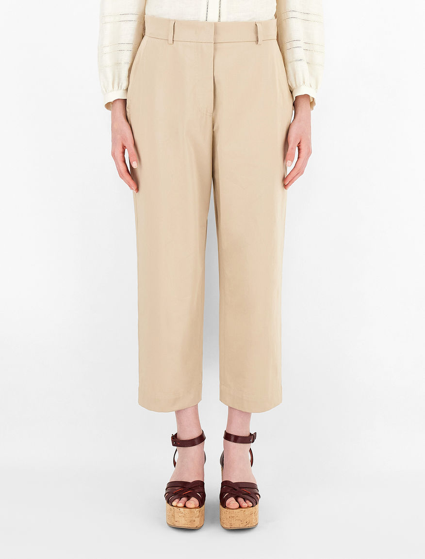 Cotton sateen trousers Weekend Maxmara