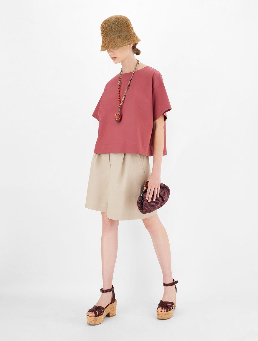 Cotton and linen twill shorts Weekend Maxmara