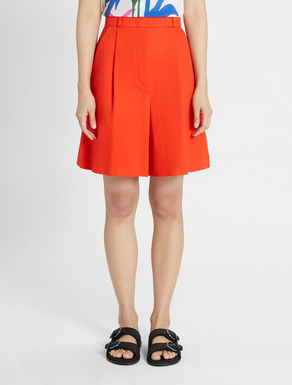 Cotton and linen twill shorts Weekend Maxmara