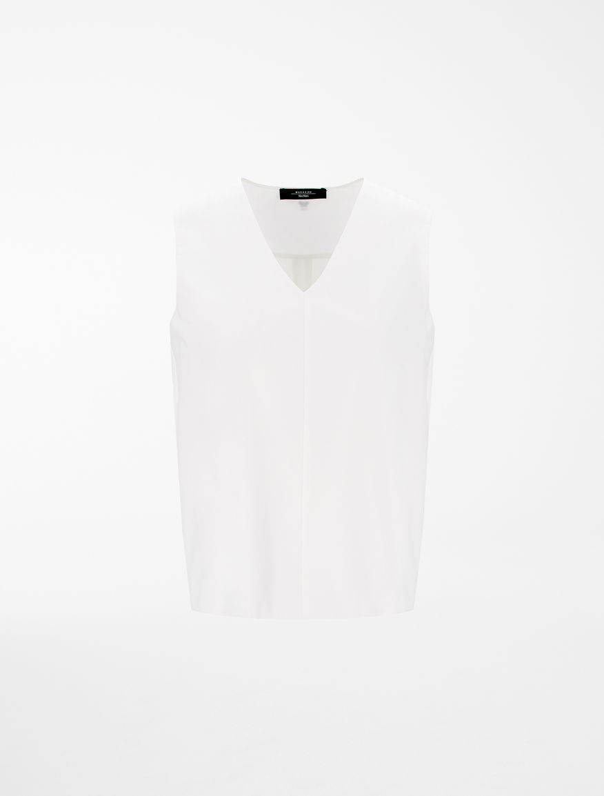 Cotton and jersey top Weekend Maxmara
