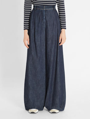 Cotton denim trousers Weekend Maxmara