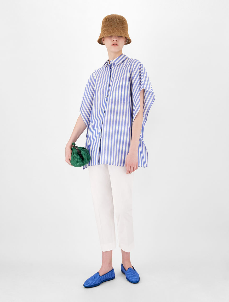 Linen and cotton fabric blouse Weekend Maxmara