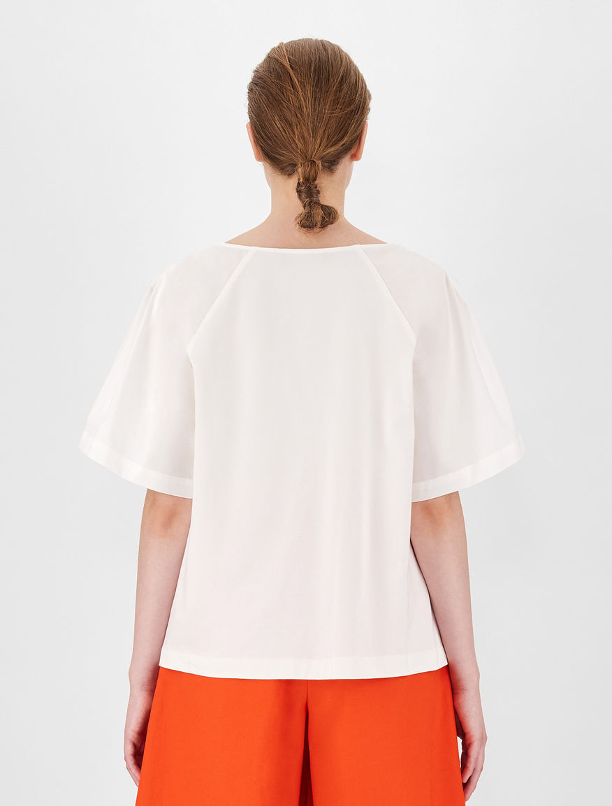 Cotton and jersey blouse Weekend Maxmara
