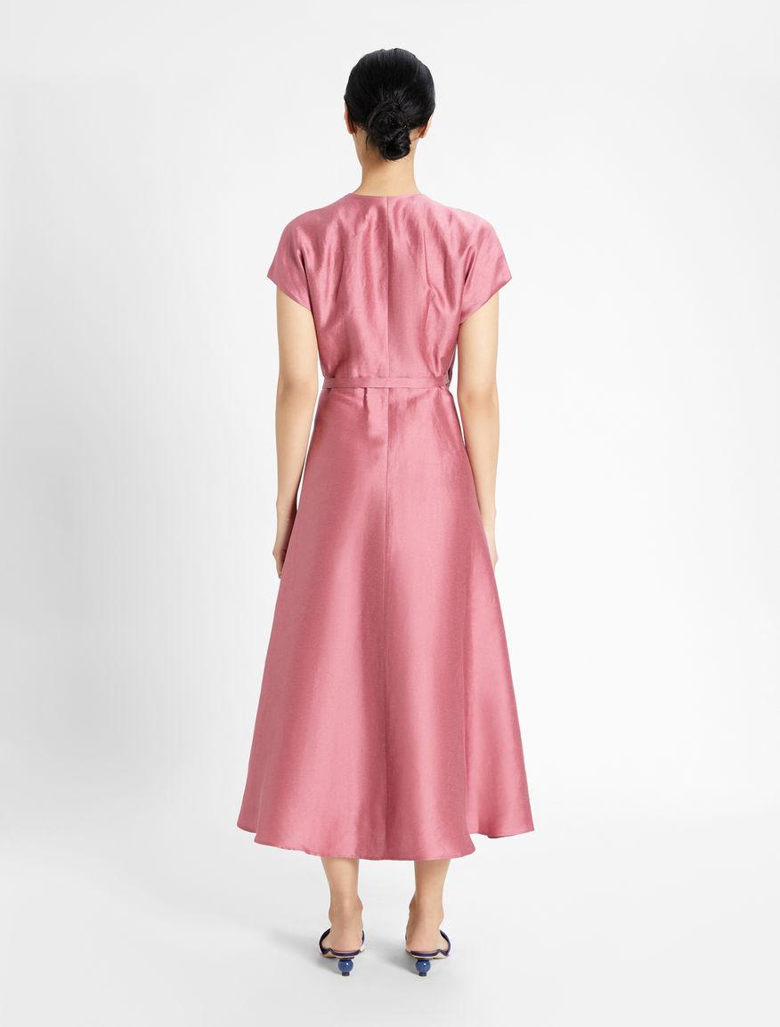 Dress in linen satin and silk Weekend Maxmara