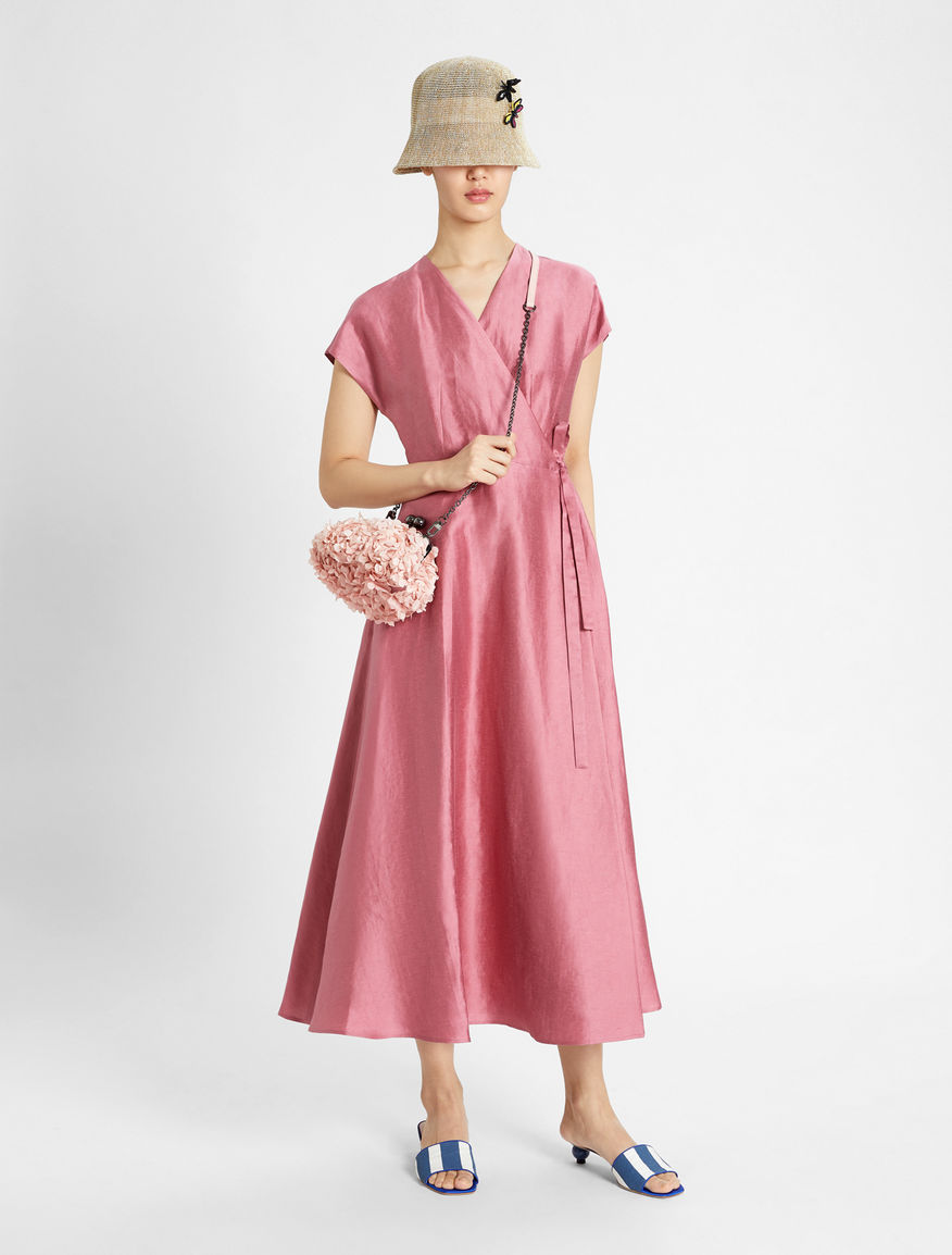 Dress in linen satin and silk Weekend Maxmara