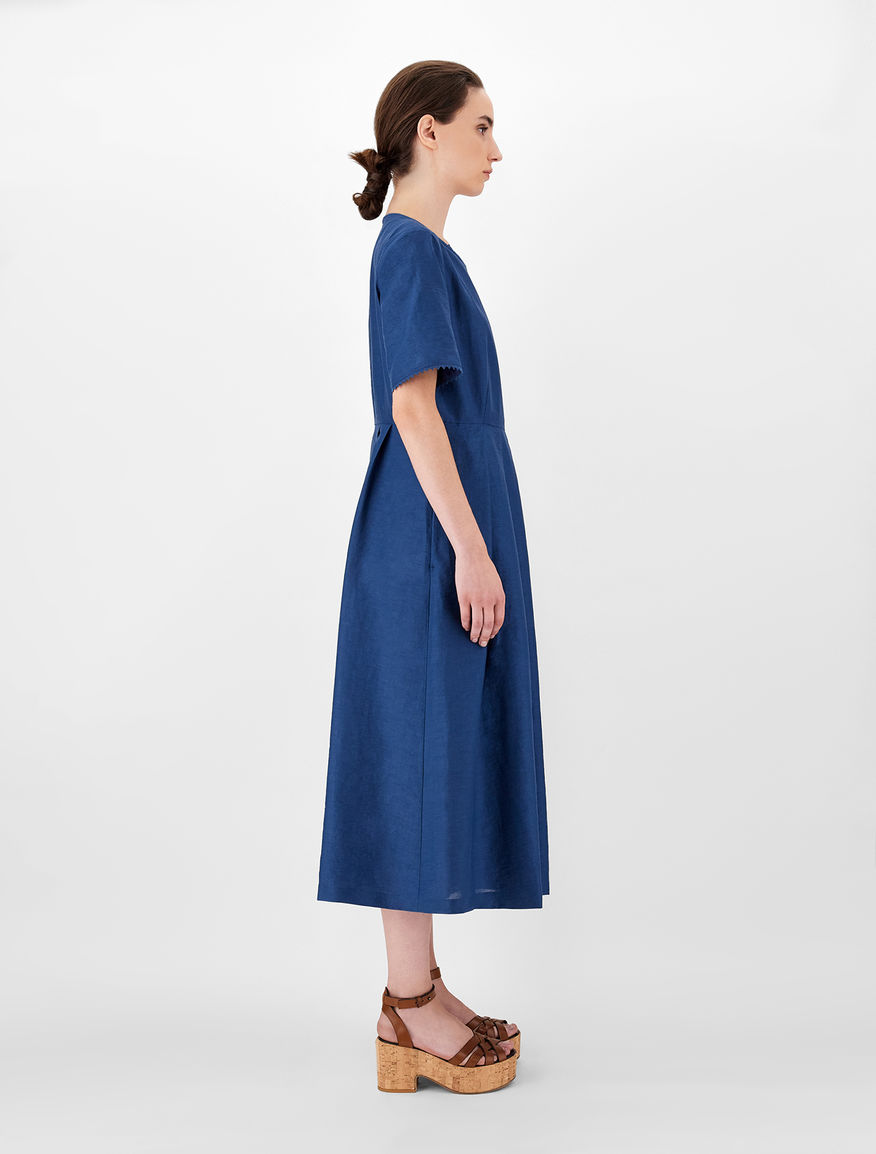 Linen and cotton fabric dress Weekend Maxmara