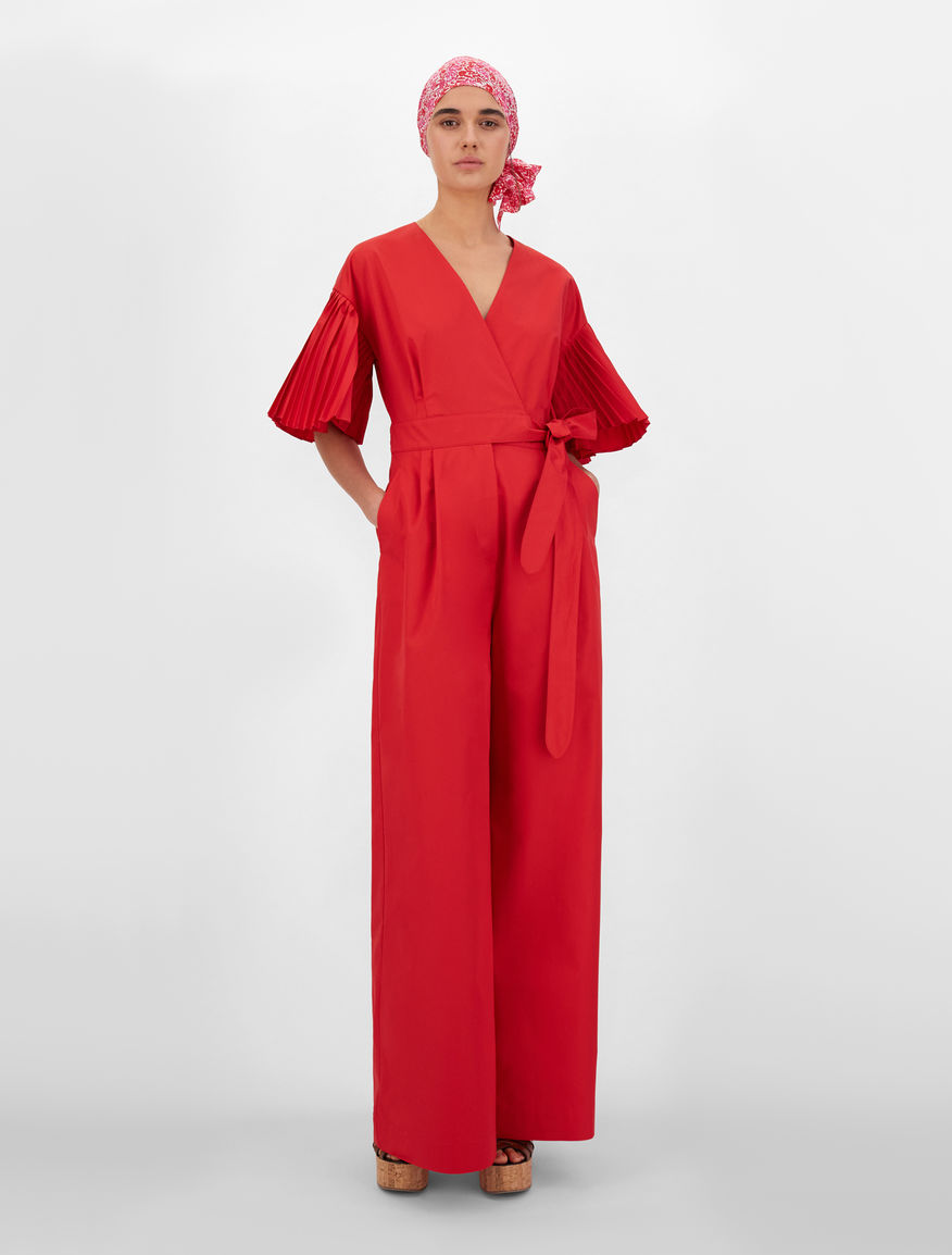 Cotton-blend micro twill jumpsuit Weekend Maxmara