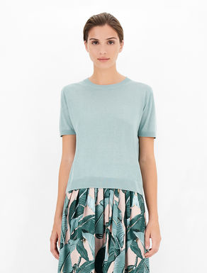 Silk and linen knit T-shirt Weekend Maxmara