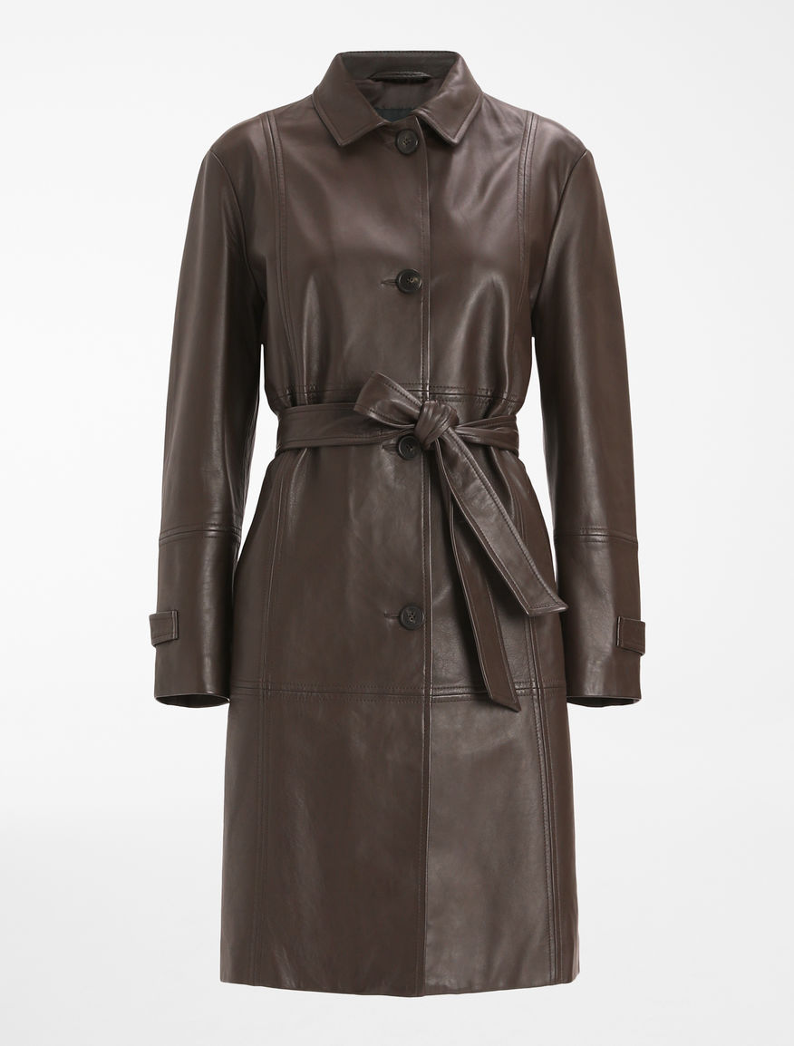 Trench in pelle nappata Weekend Maxmara
