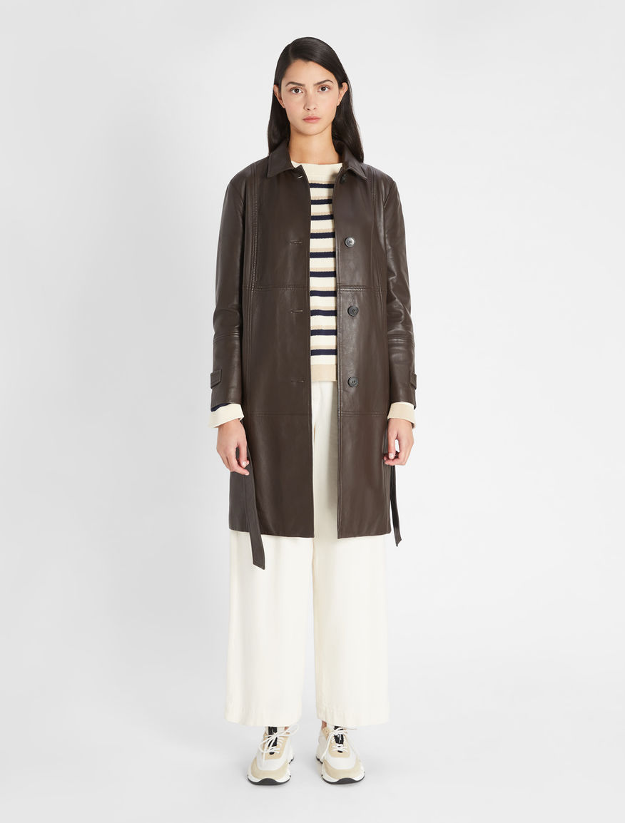 Nappa leather trench coat Weekend Maxmara