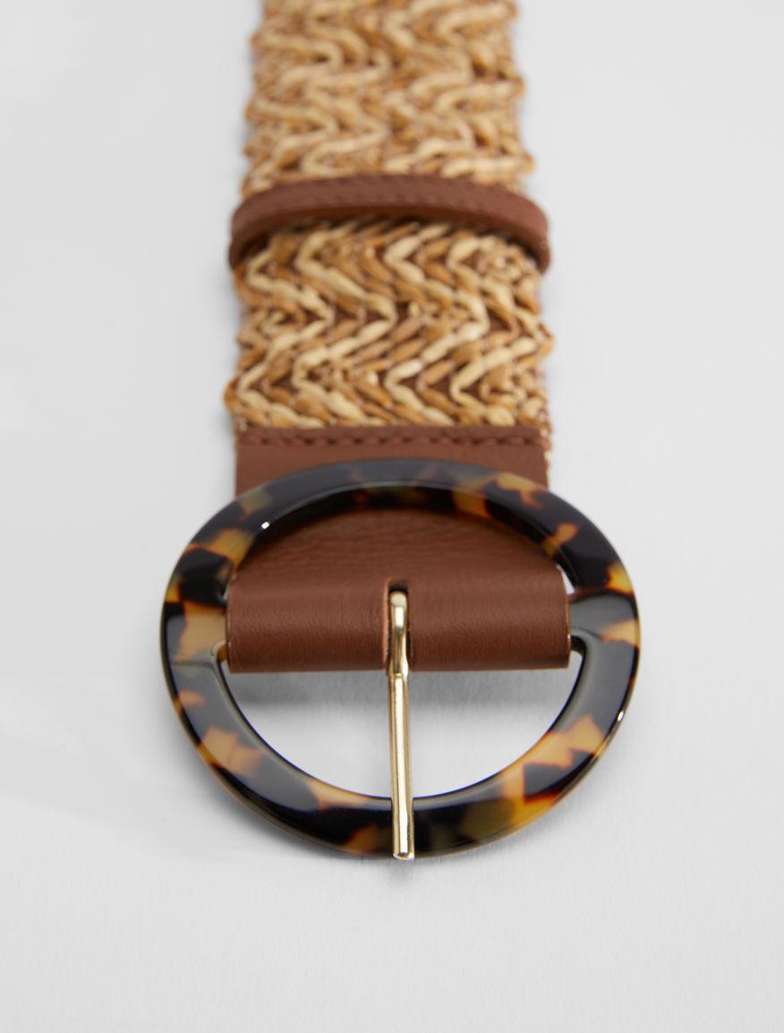 Stretch raffia ribbon belt Weekend Maxmara
