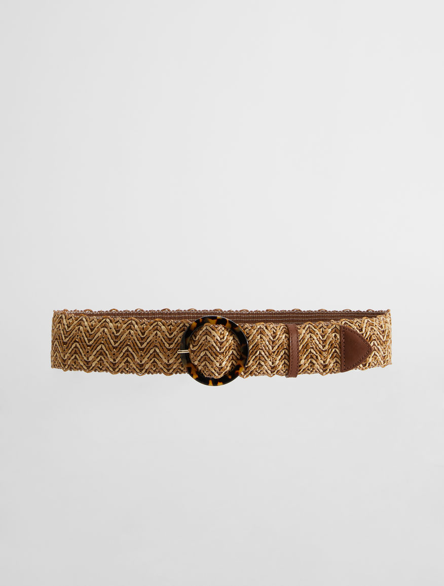 Stretch raffia ribbon belt Weekend Maxmara