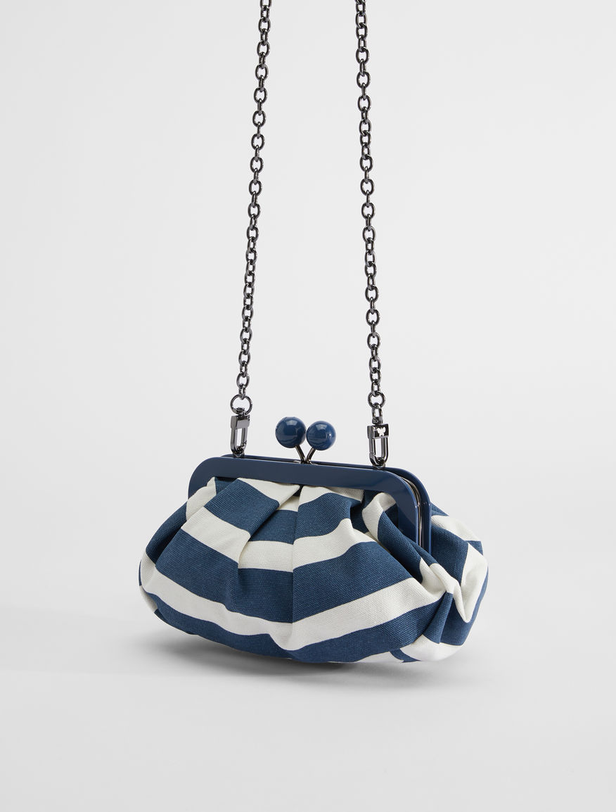 Small striped canvas Pasticcino Bag Weekend Maxmara
