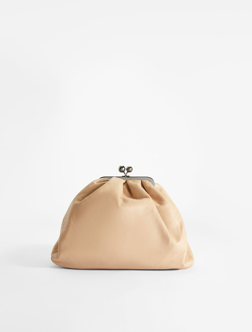 Nappa leather Pasticcino Saddlebag Weekend Maxmara