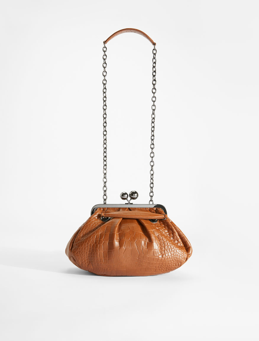 Pasticcino Bag in pelle stampa coccodrillo Weekend Maxmara