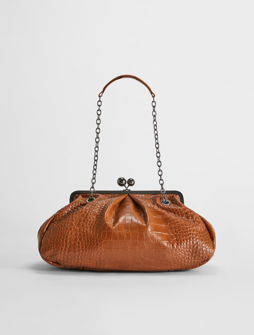 Pasticcino Bag large in pelle stampa coccodrillo Weekend Maxmara