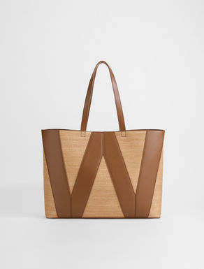 Straw effect canvas shopper Weekend Maxmara
