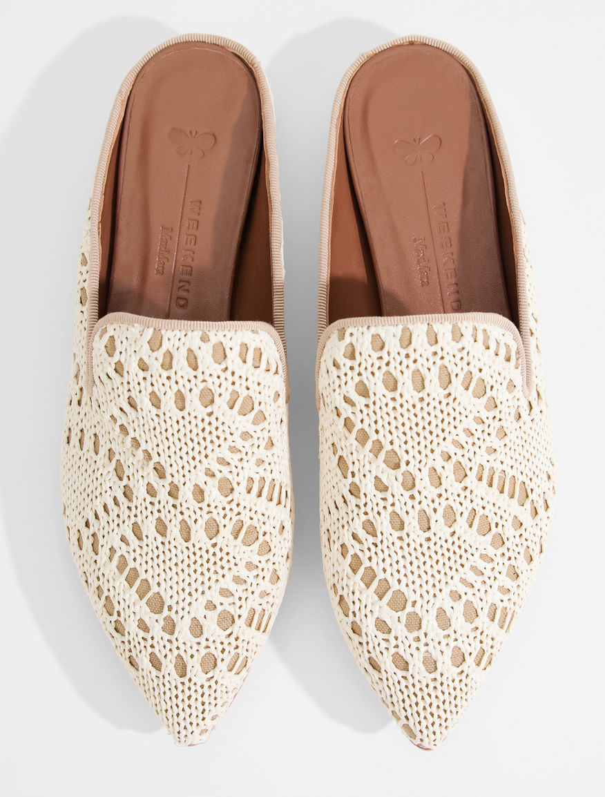 Crochet fabric clogs Weekend Maxmara