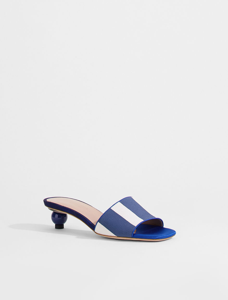 Striped canvas mules Weekend Maxmara