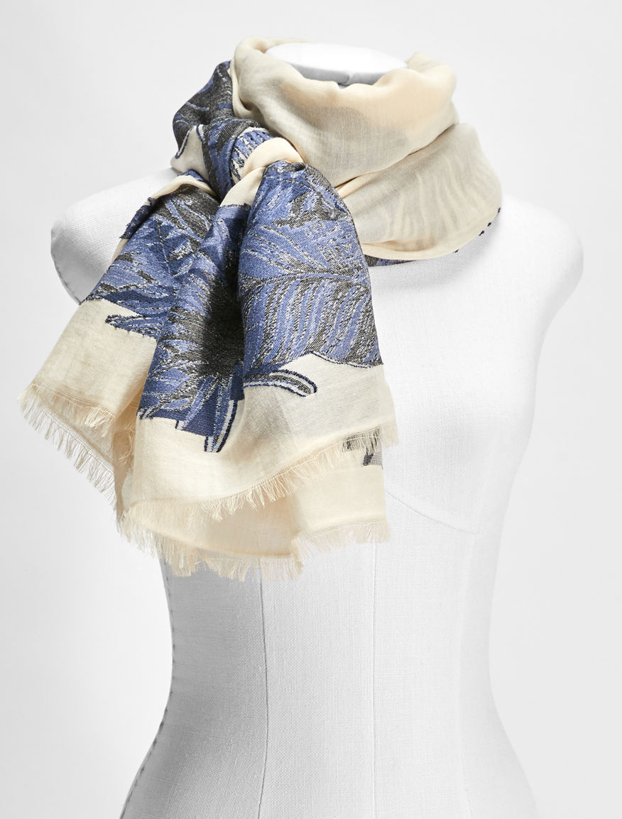 Cotton, viscose and modal scarf Weekend Maxmara
