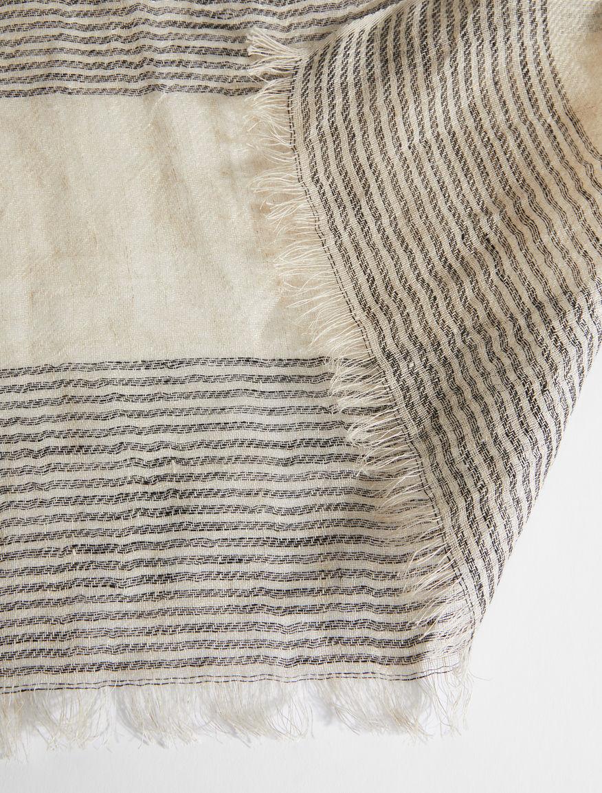 Jacquard linen yarn stole Weekend Maxmara