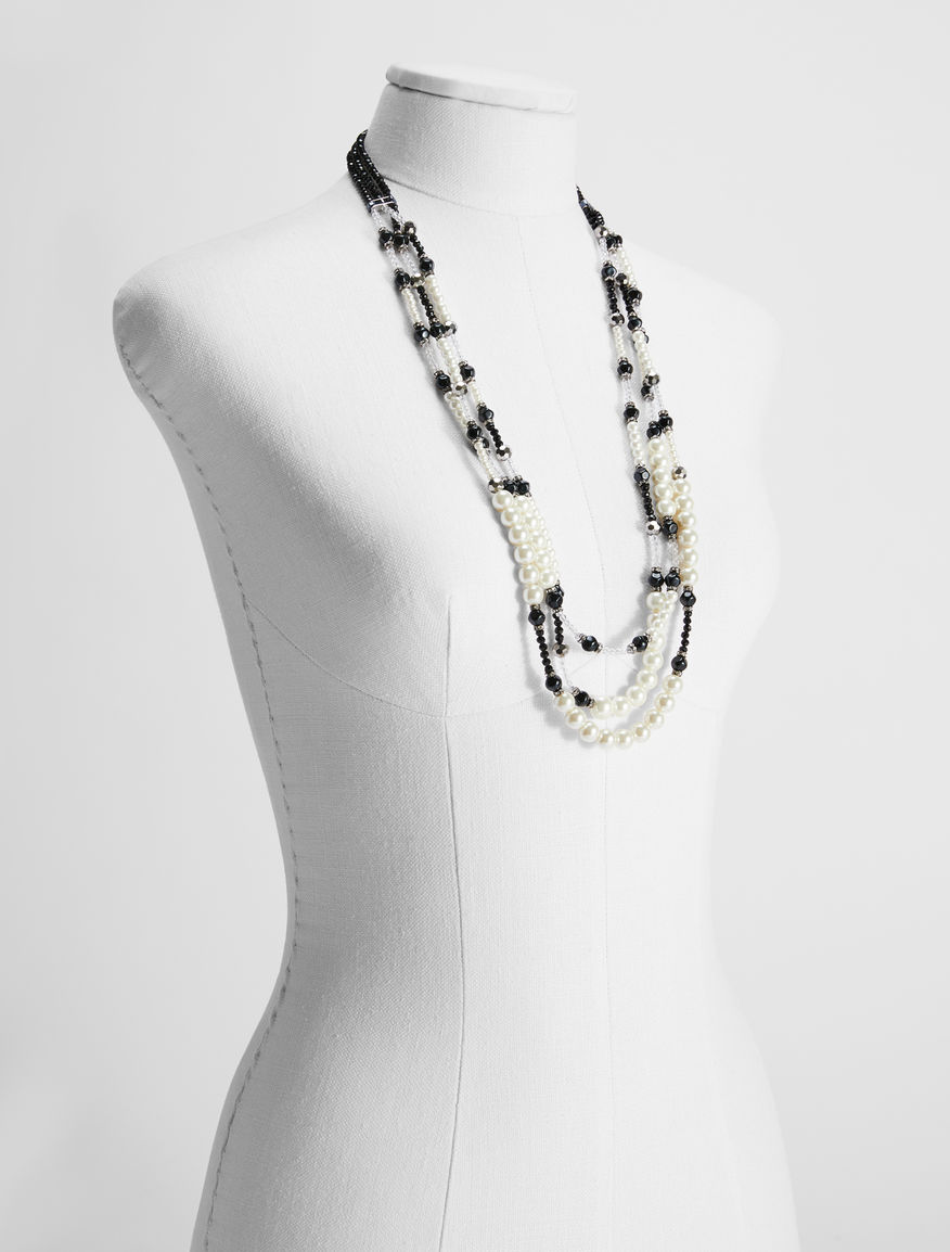 Rhinestone and pearl multi-strand necklace Weekend Maxmara