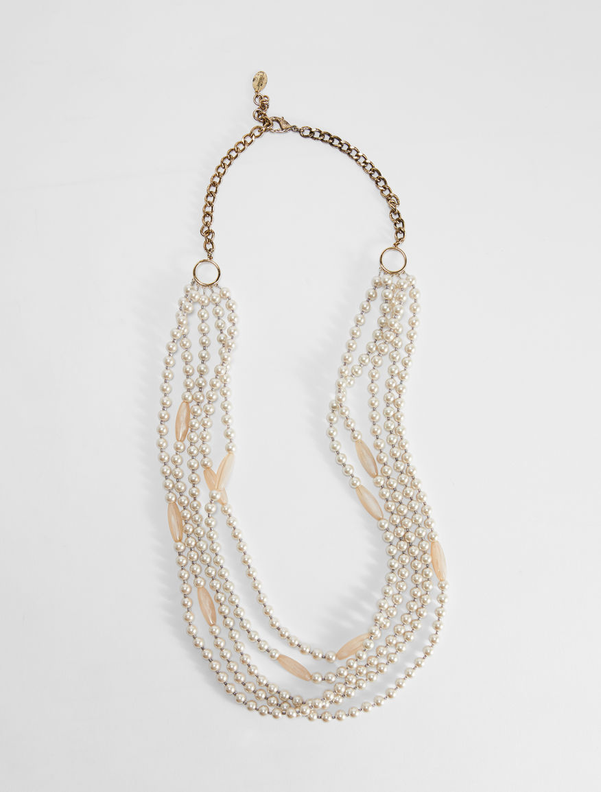 Multi-strand necklace with bead details Weekend Maxmara