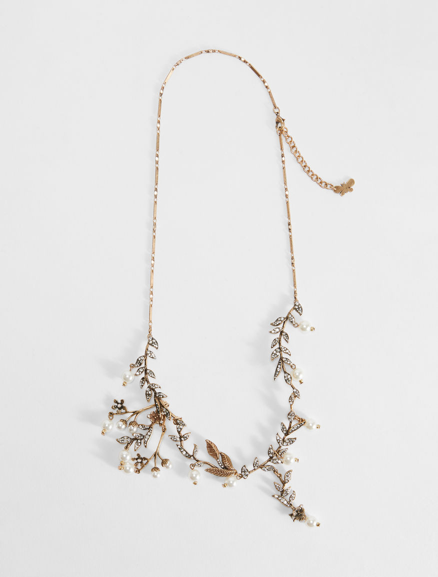 Flower necklace with pearl details Weekend Maxmara