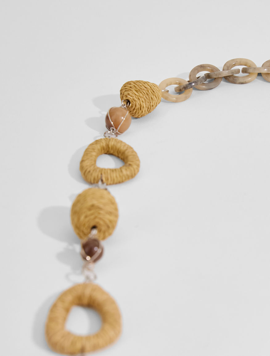 Rope and straw necklace Weekend Maxmara