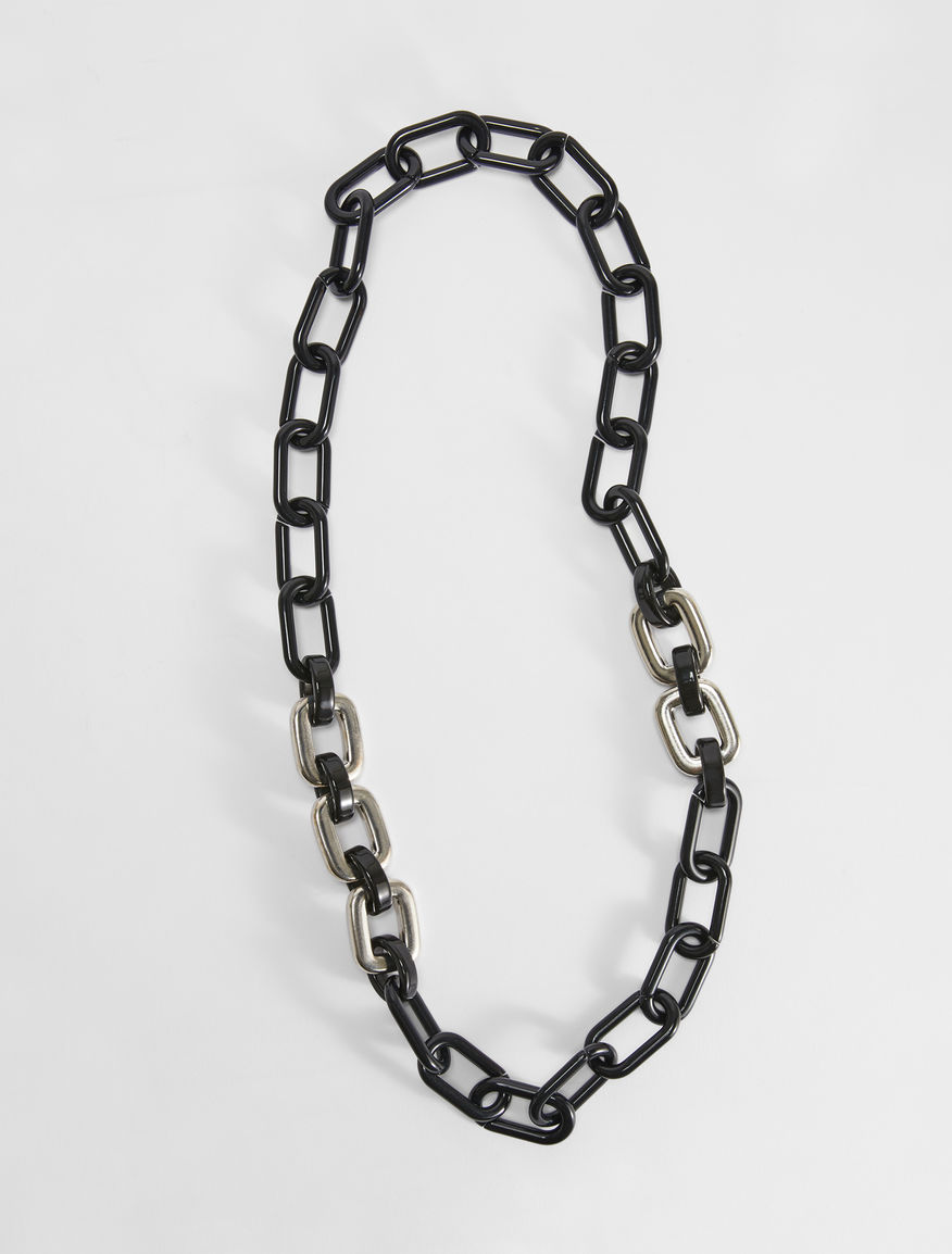 Two-tone resin chain necklace Weekend Maxmara
