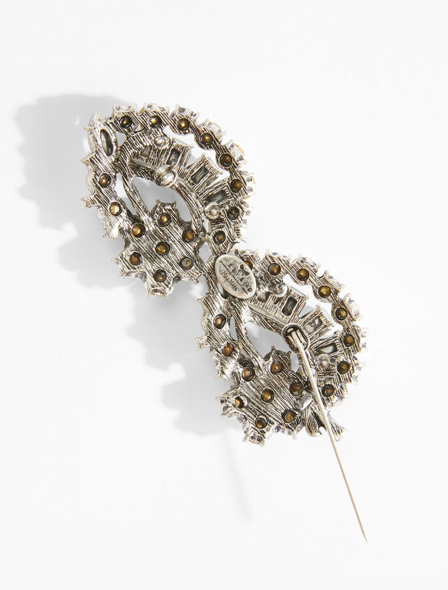 Flower brooches with rhinestones Weekend Maxmara