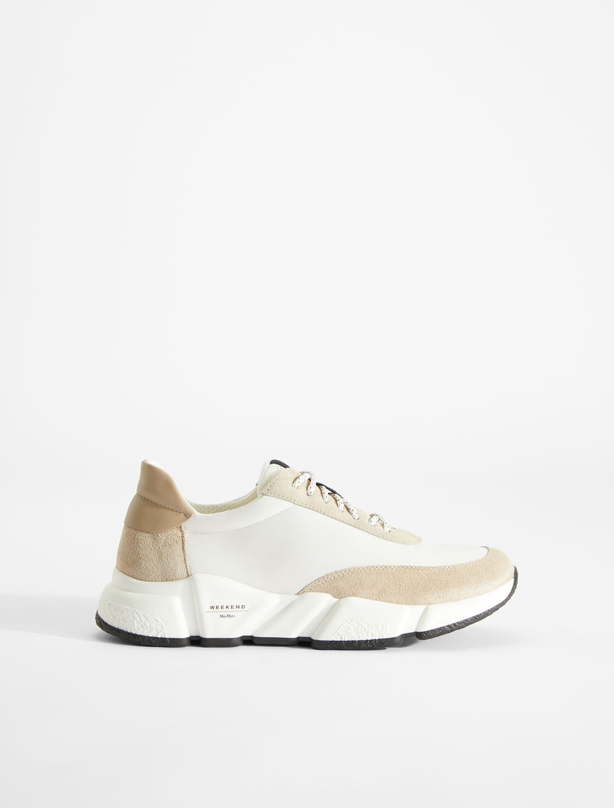 Leather, mesh and suede sneakers Weekend Maxmara