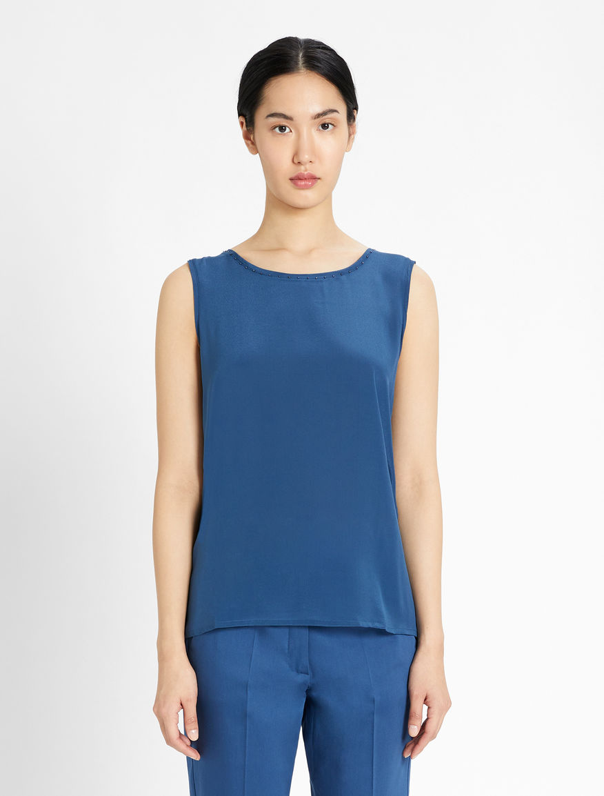 Silk crepe de chine top Weekend Maxmara