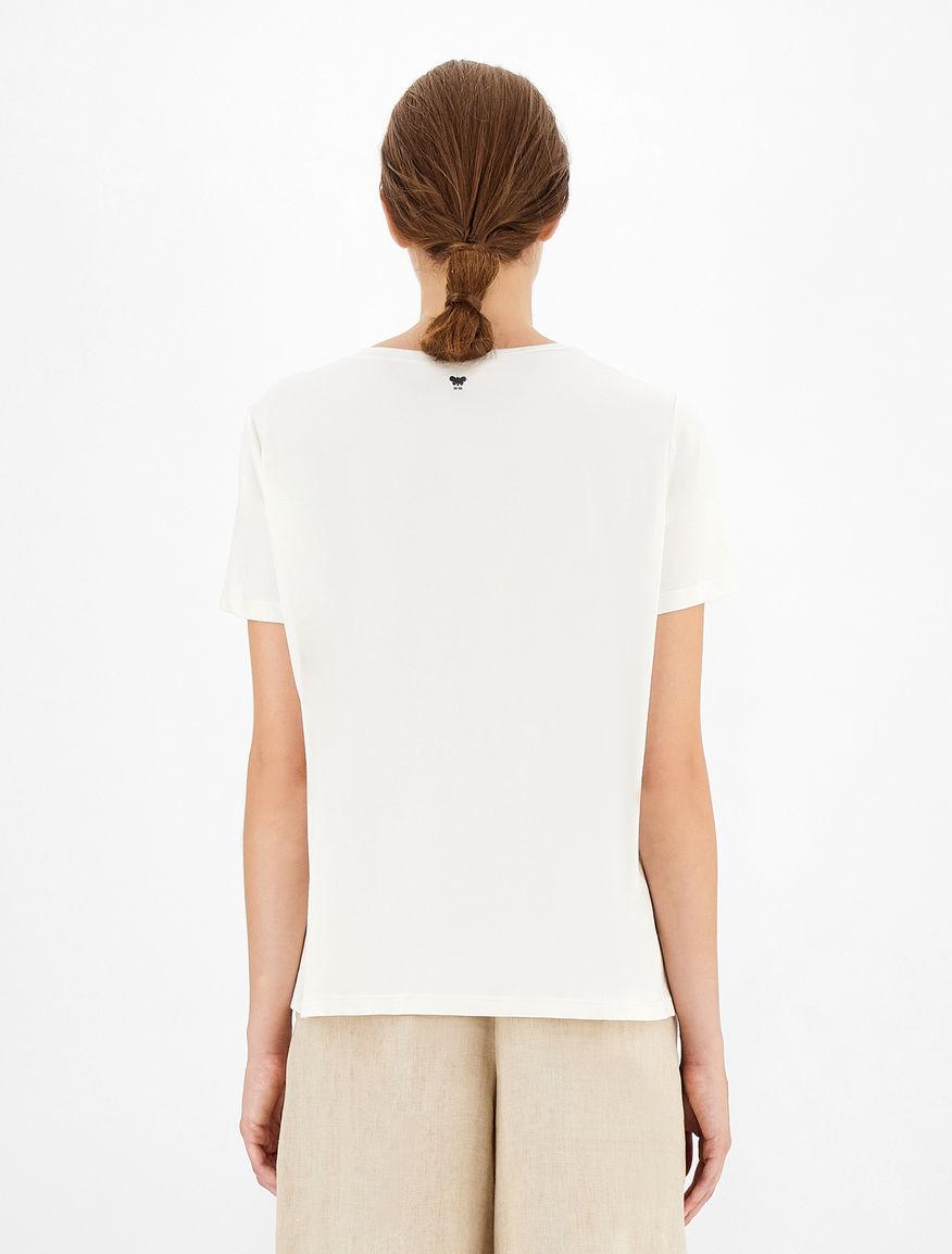 Linen and jersey T-shirt Weekend Maxmara