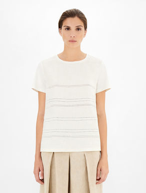 T-shirt in lino e jersey Weekend Maxmara