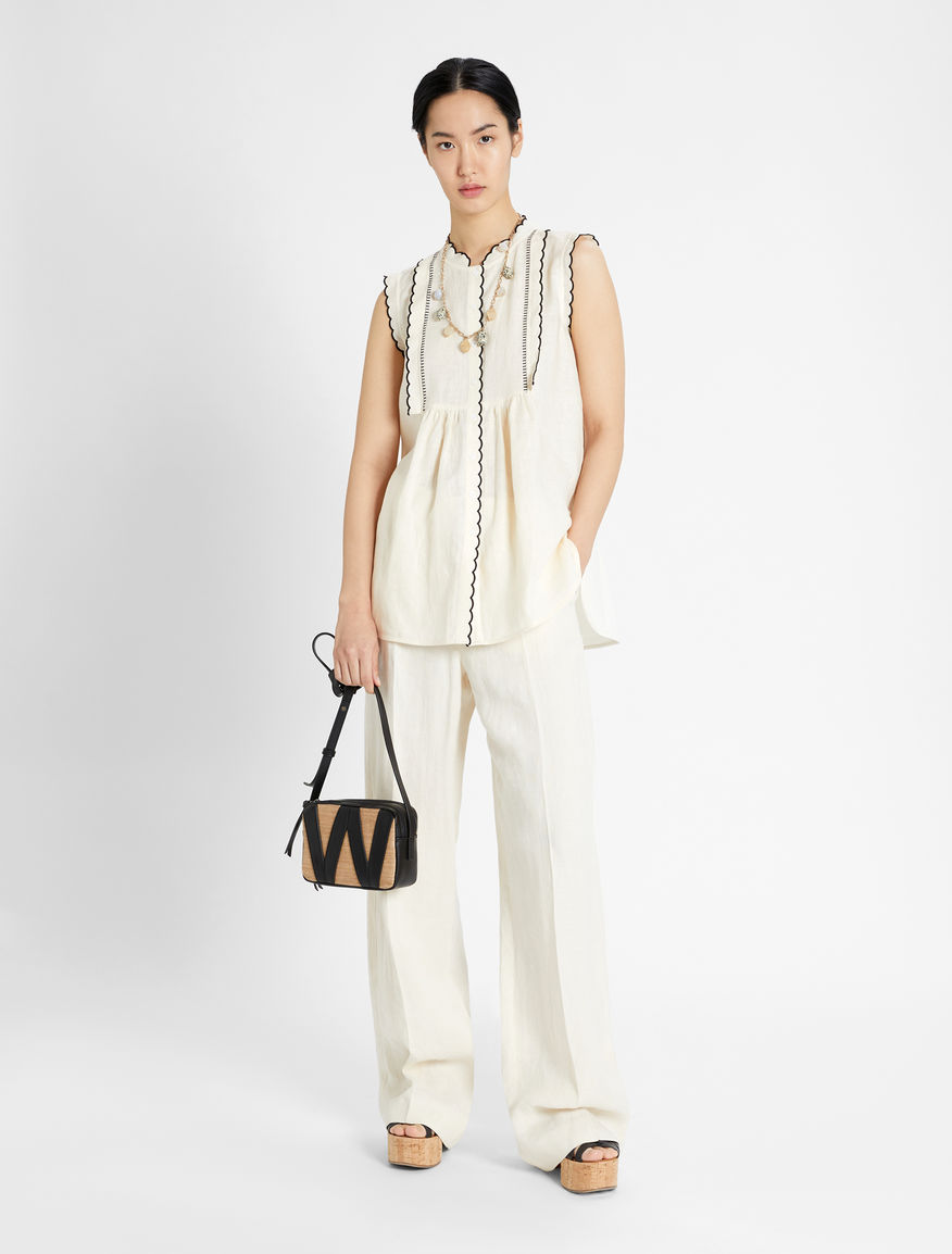 Linen and jersey top Weekend Maxmara