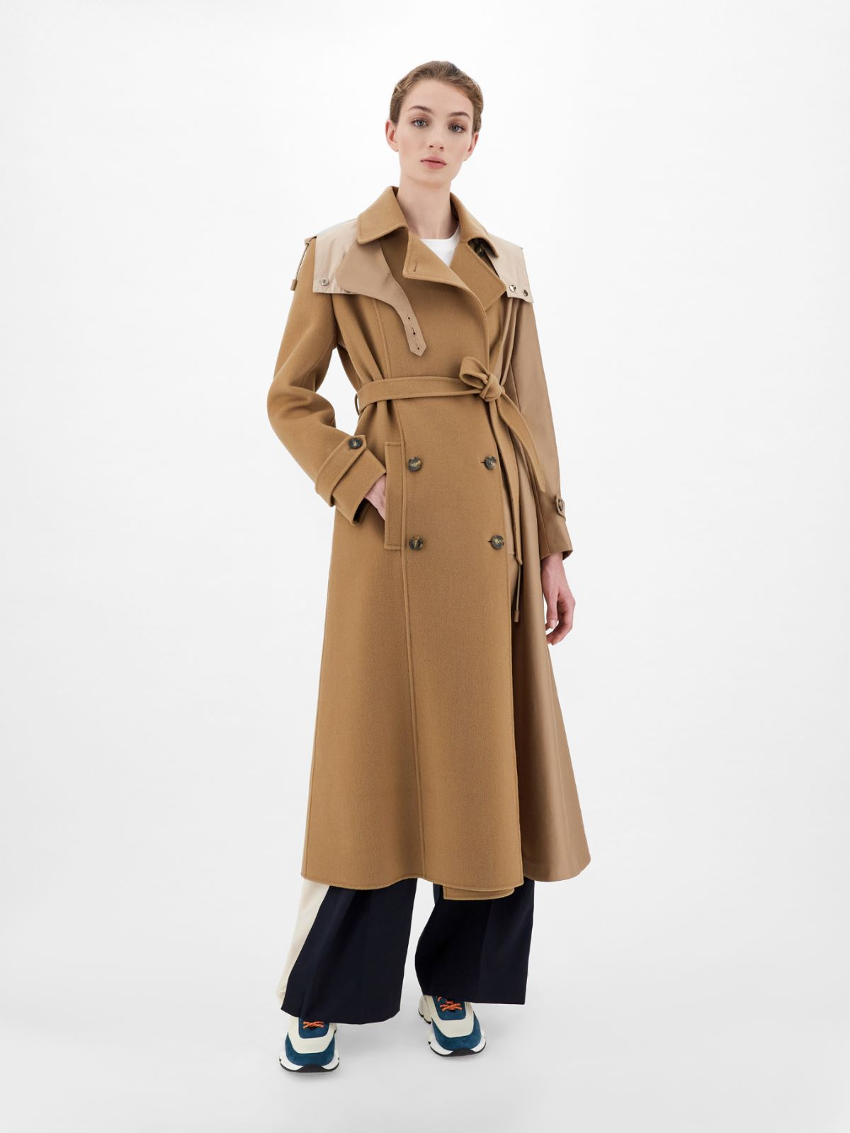 Water-repellent wool and twill trench coat Weekend Maxmara