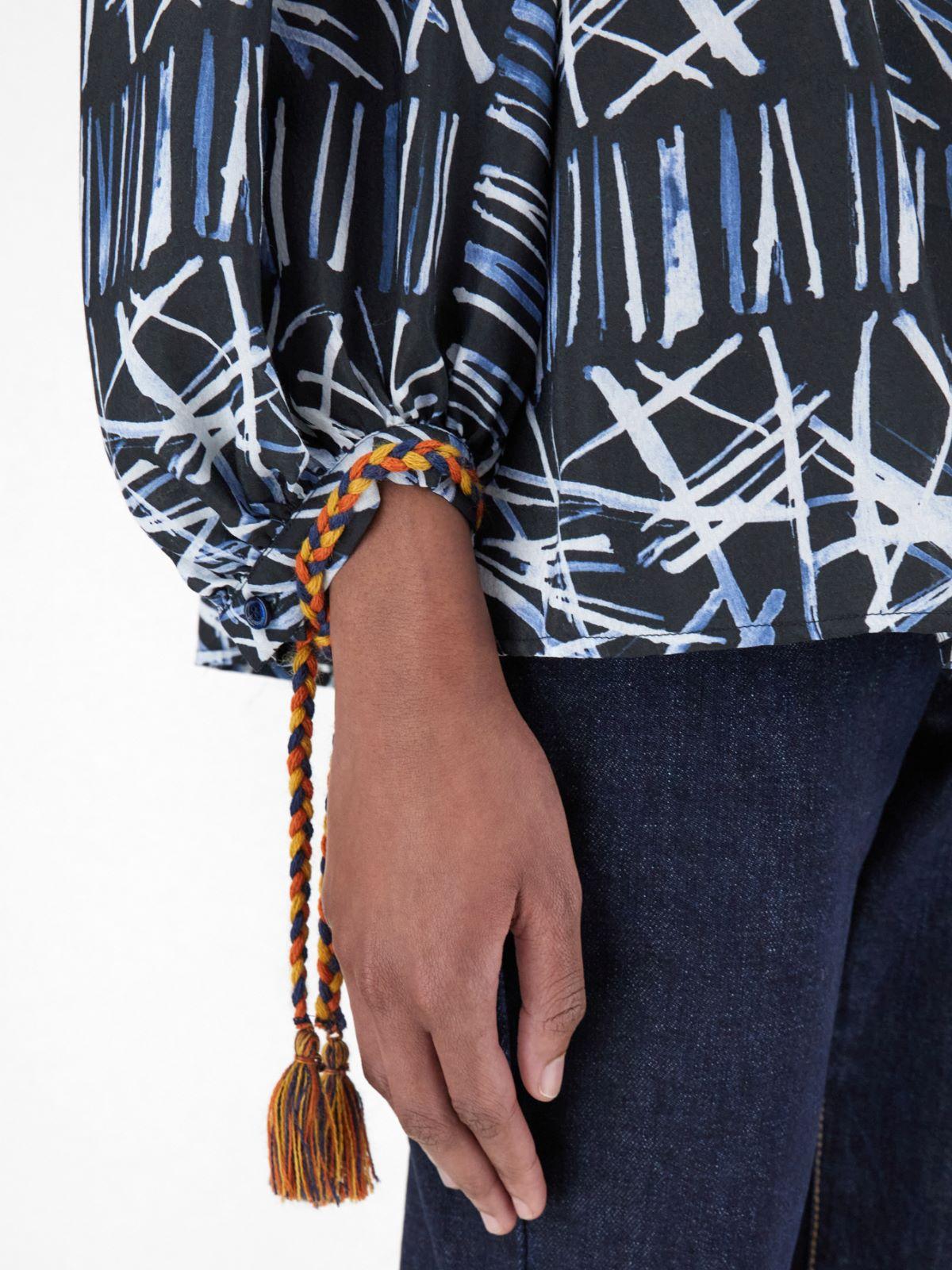 Silk and viscose jacquard blouse Weekend Maxmara
