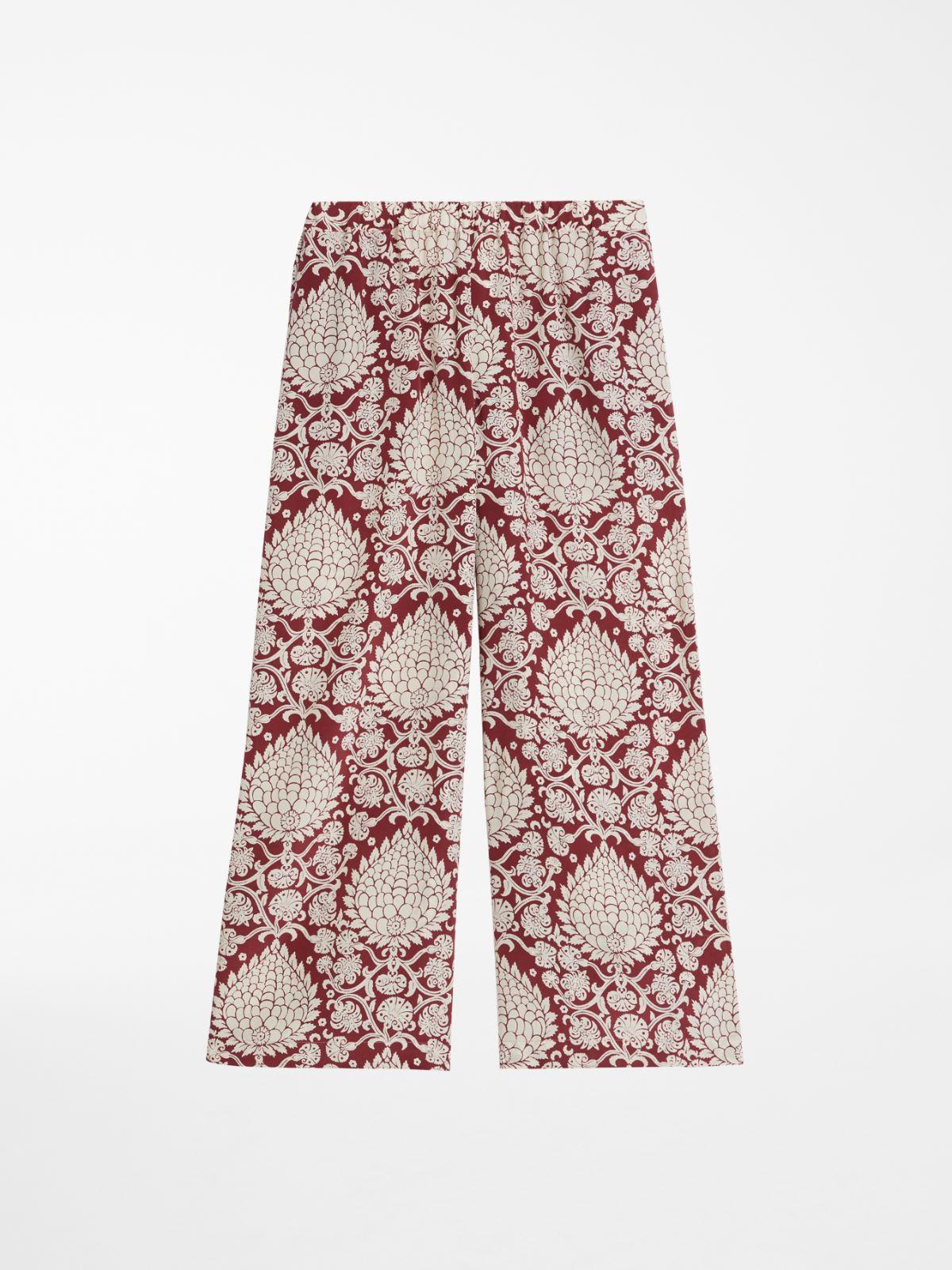 Silk crepe de chine trousers Weekend Maxmara