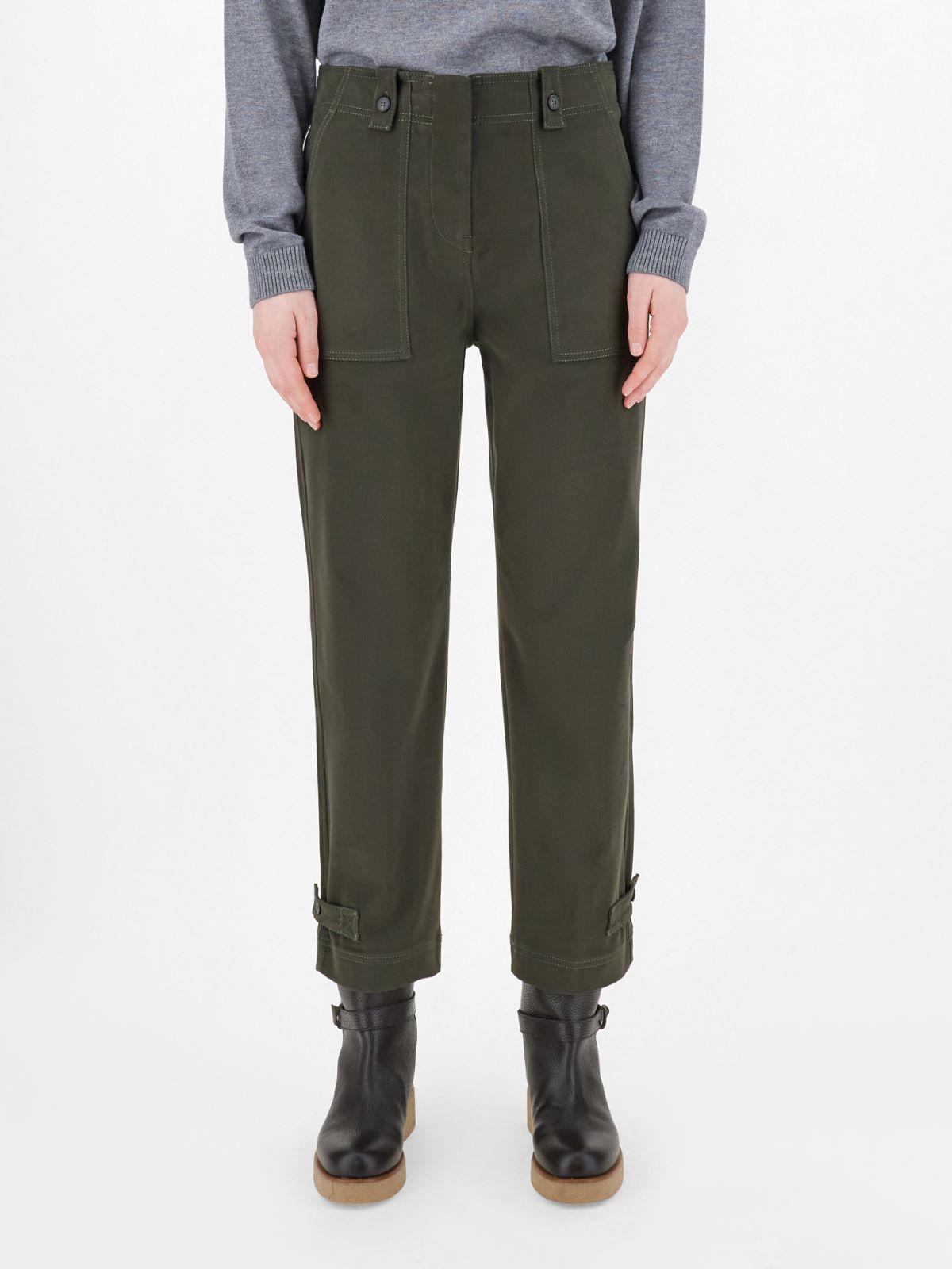 Cotton drill trousers Weekend Maxmara