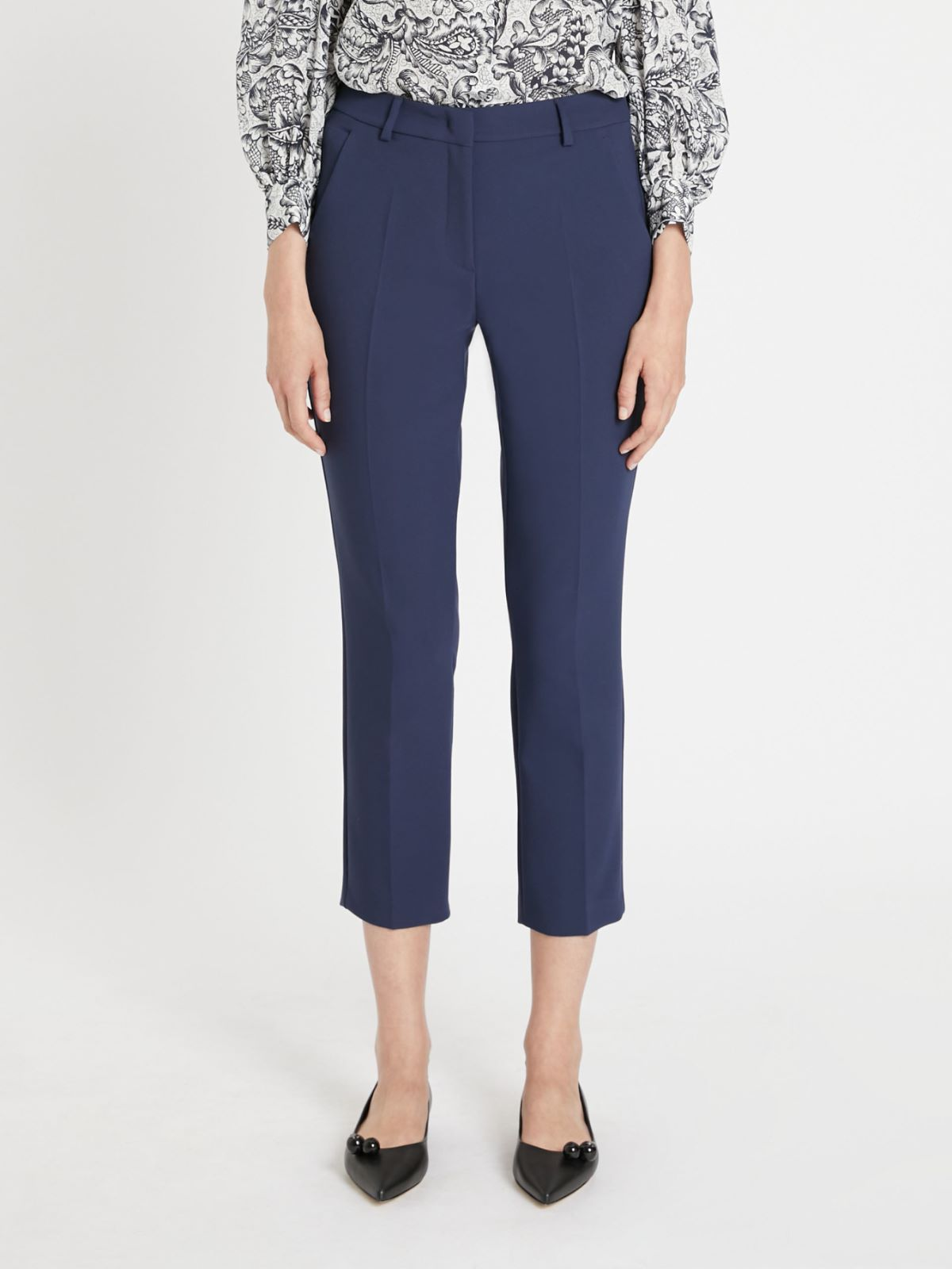 Double-layer viscose canvas trousers  Weekend Maxmara