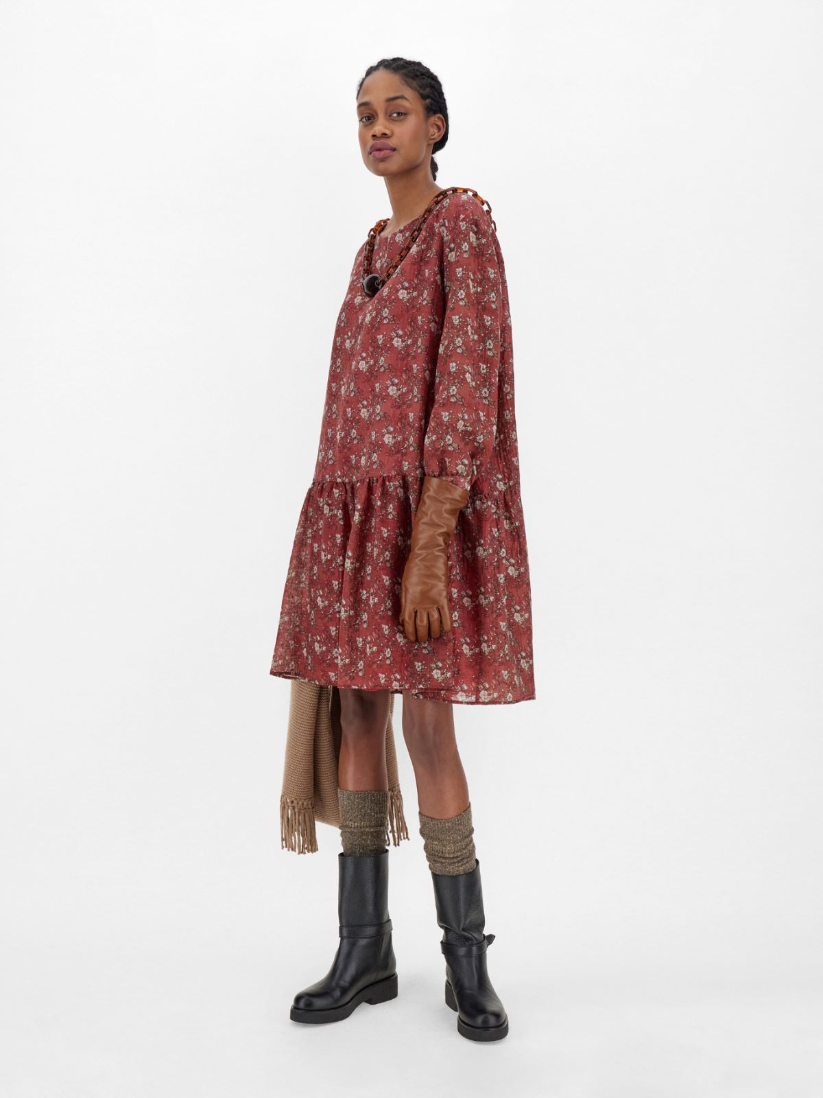 Wool-blend gauze dress Weekend Maxmara