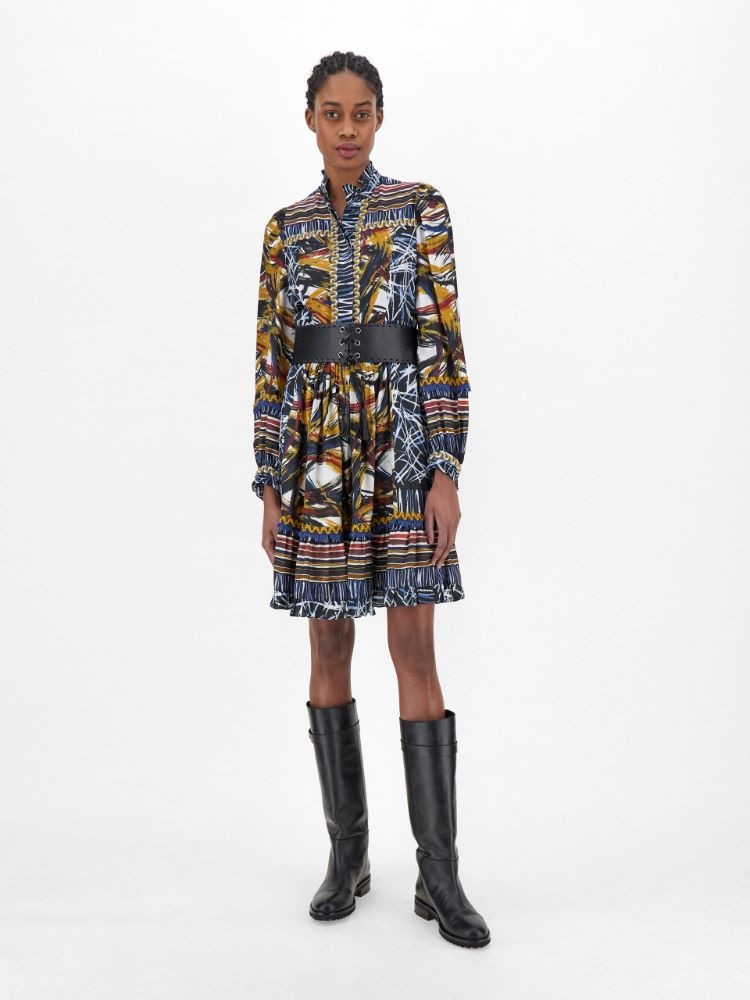 Silk and viscose jacquard dress Weekend Maxmara