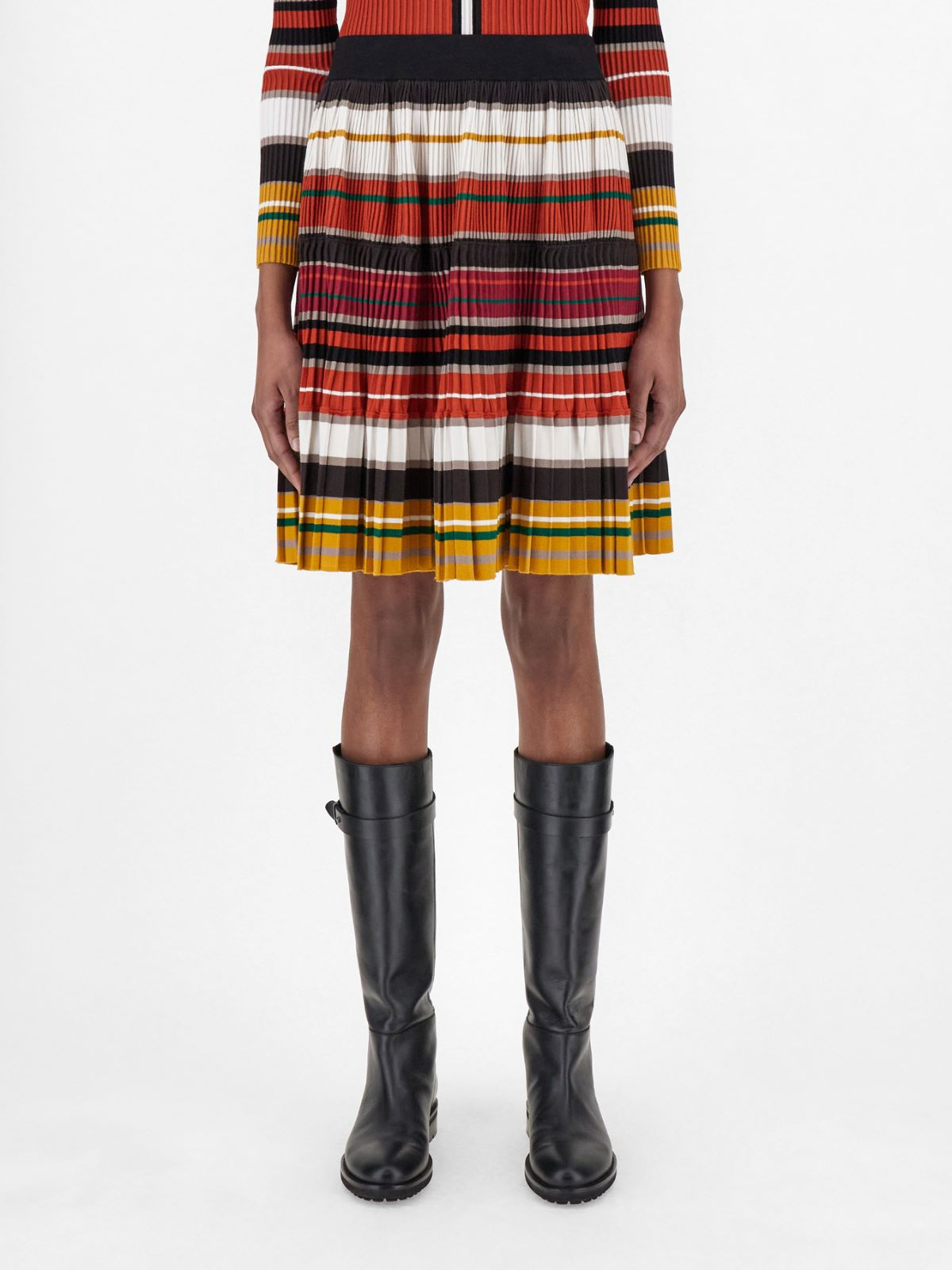 Stretch viscose yarn skirt Weekend Maxmara