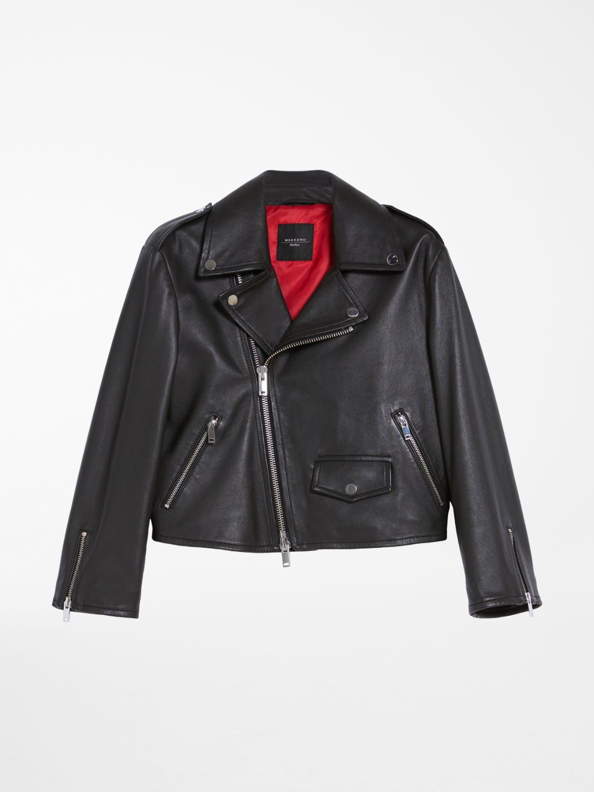 Nappa leather biker jacket Weekend Maxmara