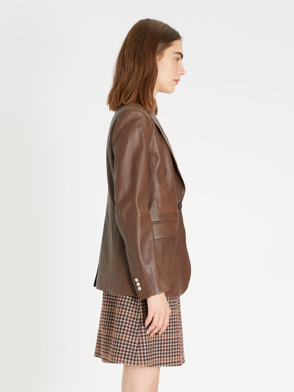 Nappa leather blazer Weekend Maxmara