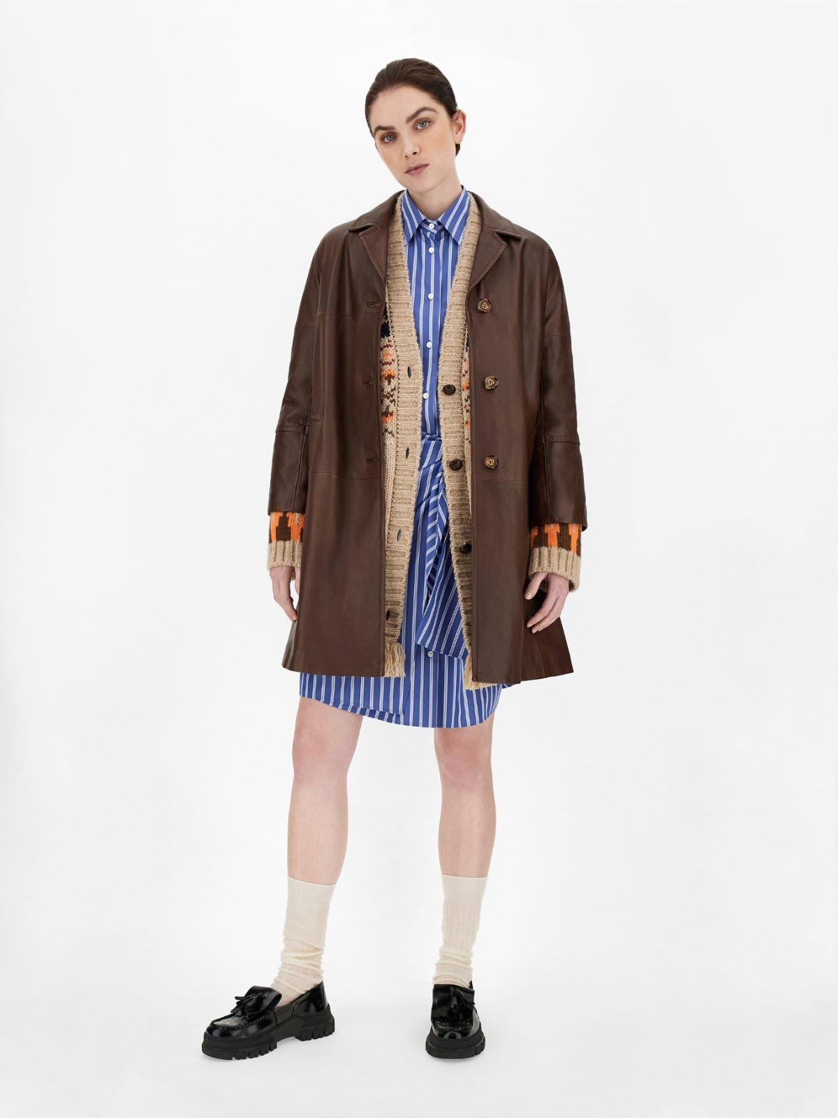 Nappa leather duster coat Weekend Maxmara