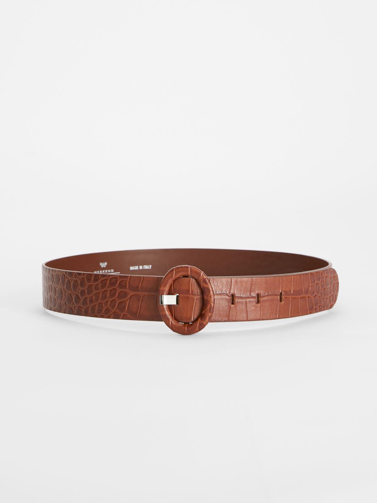 Crocodile print leather belt Weekend Maxmara