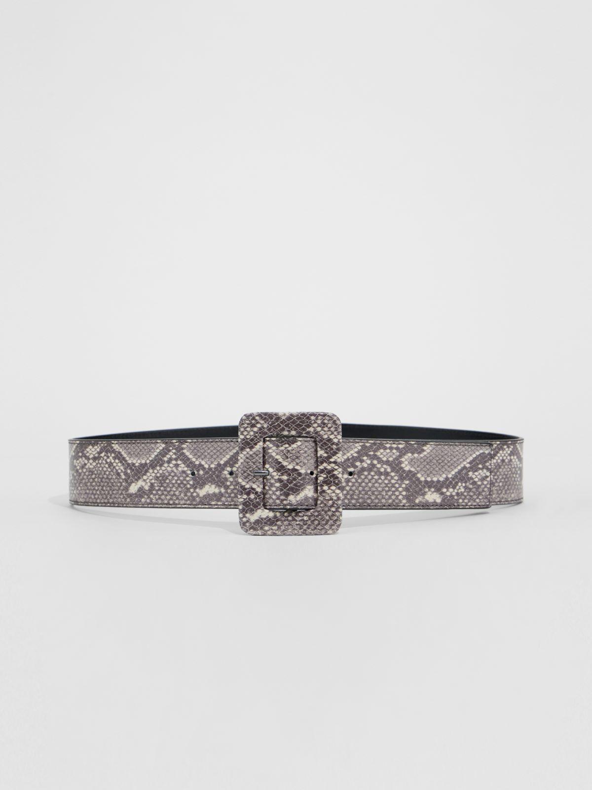 Python print leather belt Weekend Maxmara