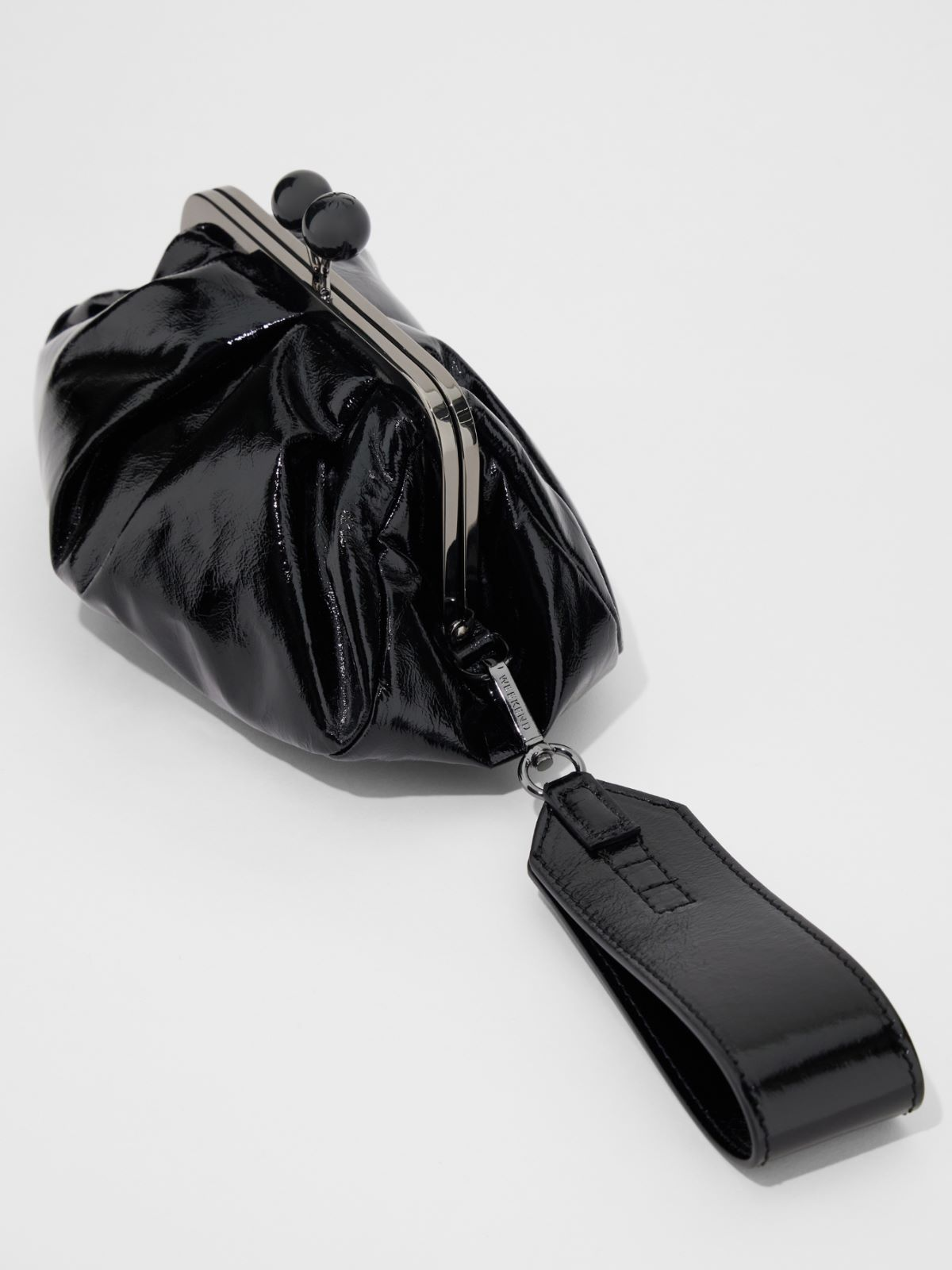 Pasticcino Bag small in pelle effetto vernice Weekend Maxmara
